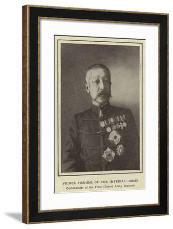 Prince Fushimi, of the Imperial House, Commander of the First--Framed Photographic Print