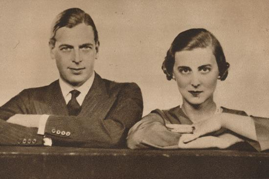 Prince George and Princess Marina, who became engaged on 28 August, 1934 (1935)-Unknown-Photographic Print