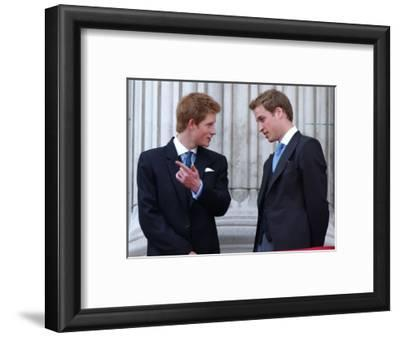 Prince Harry and Prince William at the Trooping of the Colour, June 2003