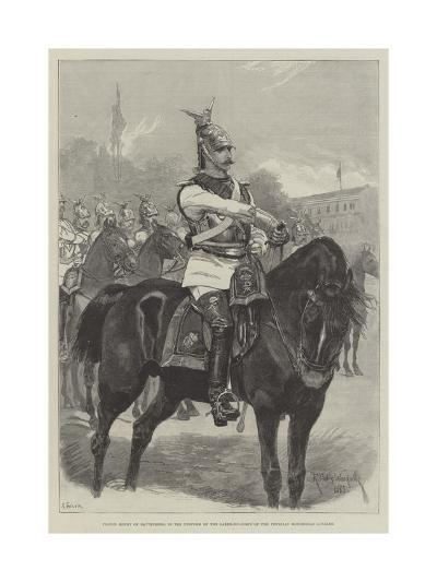 Prince Henry of Battenberg, in the Uniform of the Garde-Du-Corps of the Prussian Household Cavalry-Richard Caton Woodville II-Giclee Print