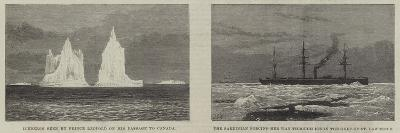 Prince Leopold Among the Icebergs--Giclee Print