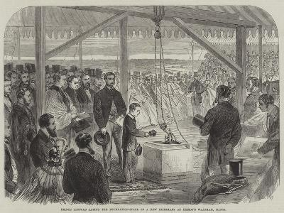 Prince Leopold Laying the Foundation-Stone of a New Infirmary at Bishop's Waltham, Hants--Giclee Print