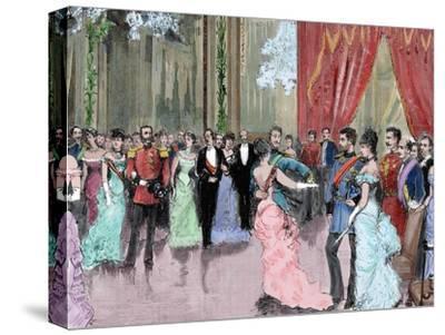 Prince Ludwig Ferdinand of Bavaria (1859-1949) and Infanta Maria Da Paz of Spain (1862-1946). Dance
