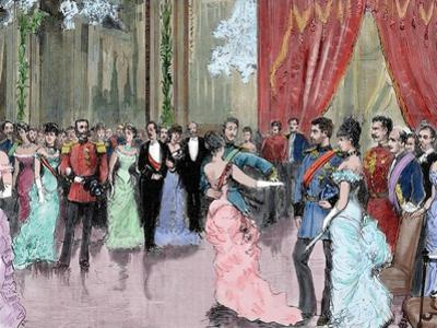 Prince Ludwig Ferdinand of Bavaria (1859-1949) and Infanta Maria Da Paz of Spain (1862-1946). Dance