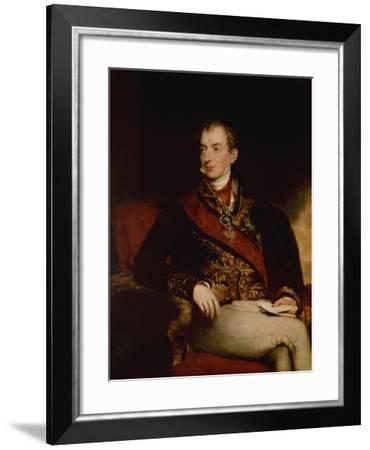 Prince Metternich, Austrian Statesman , 1815-Thomas Lawrence-Framed Giclee Print