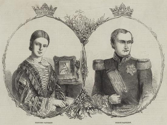 Prince Napoleon and His Bride--Giclee Print