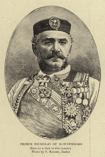 Prince Nicholas of Montenegro--Giclee Print