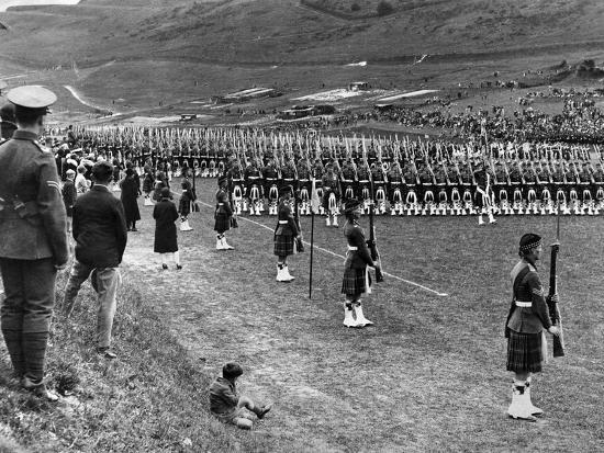 Prince of Wales Inspects Seaforth Highlanders During a Trooping of the Colour, 1929-Staff-Photographic Print