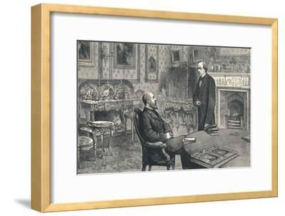 Prince of Wales Visiting Lord Beaconsfield at Hughenden Manor, 1896