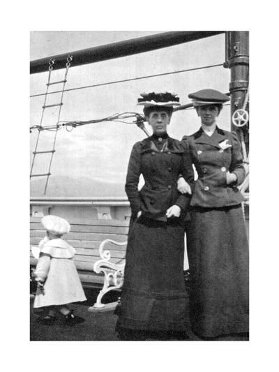 Prince Olav (1903-199) with Lady Antrim and Miss Knollys, 1908--Giclee Print