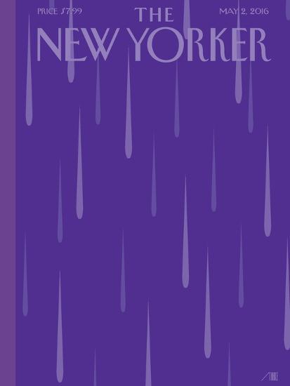 Prince Purple Rain New Yorker Magazine Cover - May 2, 2016-Bob Staake-Premium Giclee Print