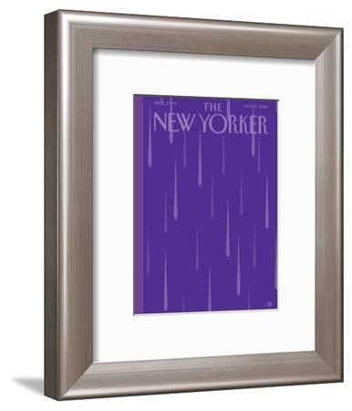 Prince Purple Rain New Yorker Magazine Cover - May 2, 2016-Bob Staake-Framed Premium Giclee Print