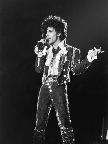 Prince, Purple Rain Tour, 1984-Michael Cheers-Photographic Print