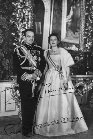 Prince Rainier III and Princess Grace of Monaco, 20th Century--Photographic Print