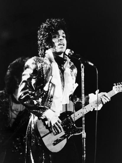 Prince, Rocks the Stage During His Purple Rain Tour in 1984-Vandell Cobb-Photographic Print