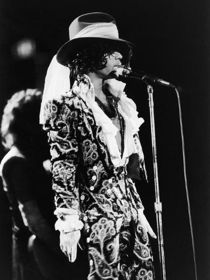 Prince Sings in Concert, 1984-Vandell Cobb-Photographic Print