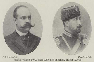 Prince Victor Bonaparte and His Brother, Prince Louis--Giclee Print