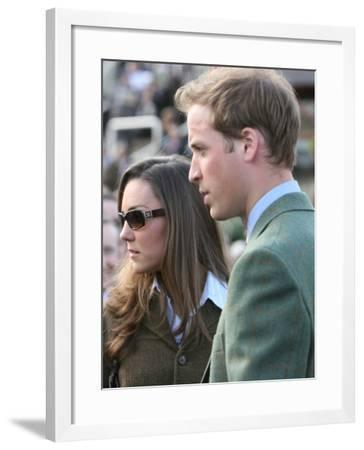 Prince William and Kate Middleton, 13th March 2007--Framed Photographic Print