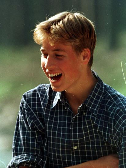 Prince William at River Dee, Balmoral, August 1988--Photographic Print