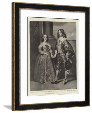 Prince William II of Orange and His Betrothed-Sir Anthony Van Dyck-Framed Giclee Print
