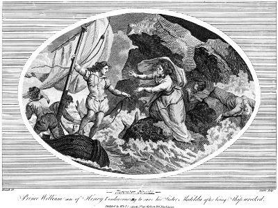 Prince William Son of Henry I, Endeavouring to Save His Sister Matilda after Bing Shipwrecked, 1792--Giclee Print