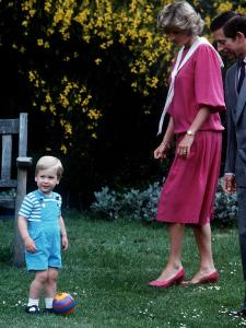 Prince William with parents on his 2nd birthday, June 1984