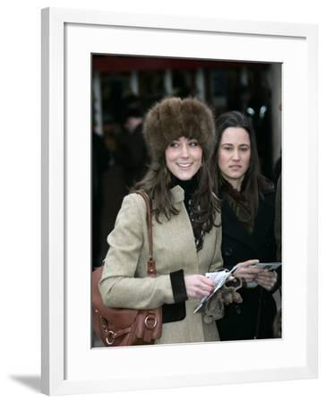 Prince Williams girlfriend Kate Middleton seen here arriving at the Cheltenham Festival on Gold Cup--Framed Photographic Print
