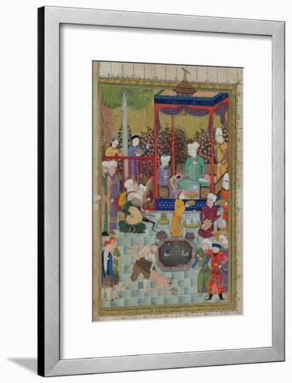 Princely Reception, Illustration from the Shahnama--Framed Giclee Print