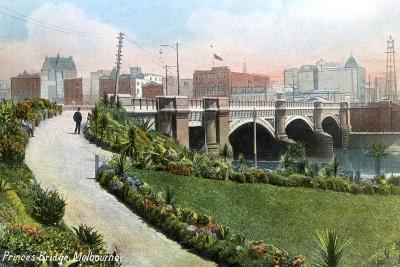 Princes Bridge, Melbourne, Australia, 1912--Giclee Print