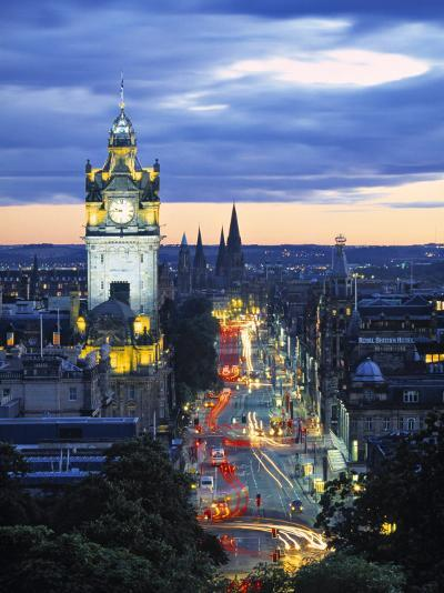 Princes St., Calton Hill, Edinburgh, Scotland-Doug Pearson-Photographic Print