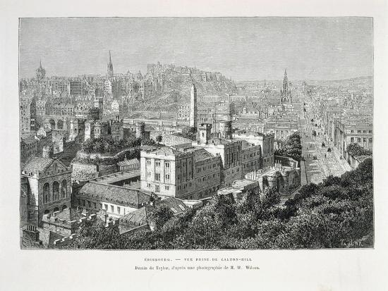 Princes Street and Castle of Holyrood from Nouvelle Geographie Universelle--Giclee Print
