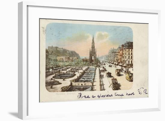 Princes Street, Edinburgh--Framed Giclee Print
