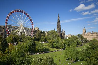 Princes Street Gardens with the Festival Wheel, Edinburgh, Scotland-Brian Jannsen-Photographic Print