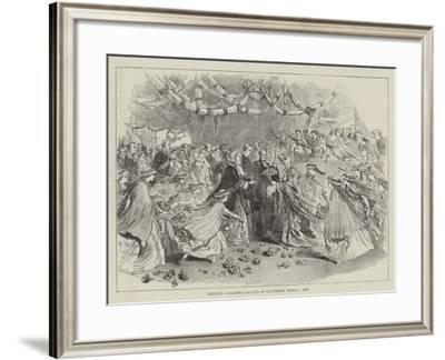 Princess Alexandra Landing at Gravesend, 7 March 1863--Framed Giclee Print