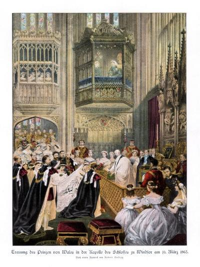 Princess Alexandra's and Prince Edward's Wedding, St Georges Chapel at Windsor-Robert Dudley-Giclee Print