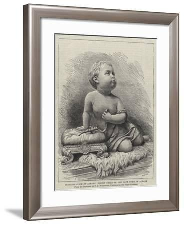 Princess Alice of Albany, Eldest Child of the Late Duke of Albany--Framed Giclee Print