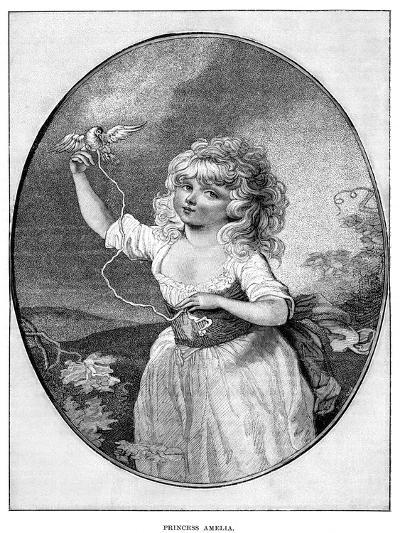 Princess Amelia, Youngest Daughter of George III and Queen Charlotte, 19th Century--Giclee Print