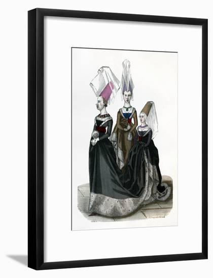 Princess and Ladies in Waiting, 1470 (1882-188)- Gautier-Framed Giclee Print