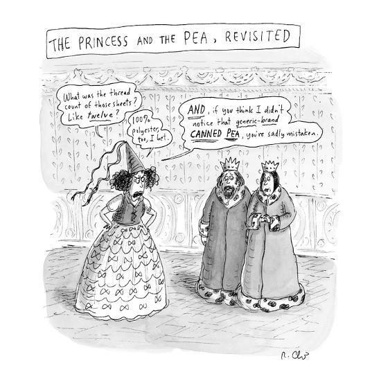 """""""Princess and the Pea Revisited"""" - New Yorker Cartoon-Roz Chast-Premium Giclee Print"""