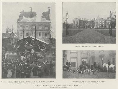Princess Christian's Visit to Earl Spencer at Althorp Park--Giclee Print