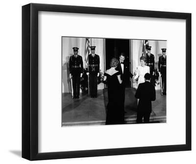 Princess Diana and Prince Charles with Ronald Reagan and Nancy Reagan at the White House