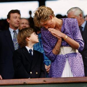 Princess Diana and Prince William at the Wimbledon Ladies Final