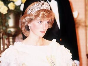 Princess Diana Attends a Banquet in Auckland New Zealand Wearing a Yellow Dress and Tiara