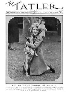 Princess Elizabeth and Her Corgi
