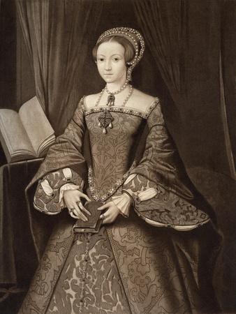 Princess Elizabeth, Later Queen, C1547--Giclee Print
