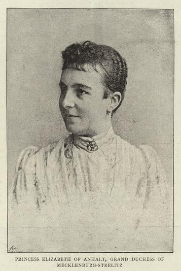 Princess Elizabeth of Anhalt, Grand Duchess of Mecklenburg-Strelitz--Giclee Print