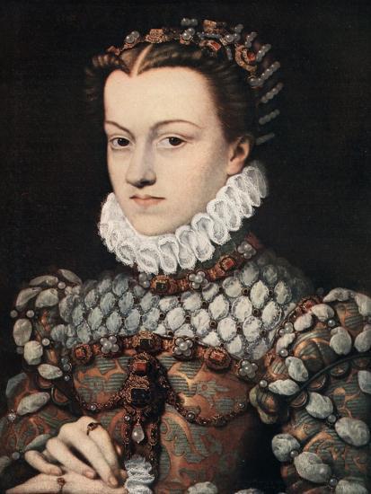 Princess Elizabeth of Austria, C1571-Francois Clouet-Giclee Print