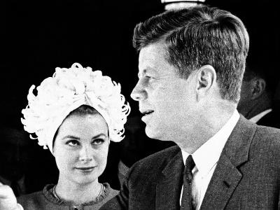 Princess Grace of Monaco and President John F Kennedy--Photo