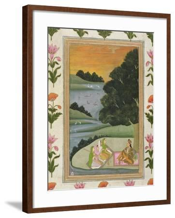 Princess Listening to Female Musicians by a River at Sunset, from the Small Clive Album--Framed Giclee Print