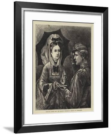 Princess Louise and the Queen's Prizeman, a Sketch at Wimbledon-Francis S. Walker-Framed Giclee Print